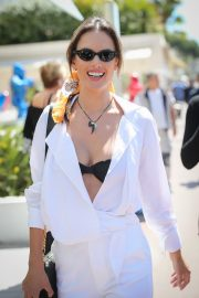 Alessandra Ambrosio in white outfit during 72nd Cannes Film Festival in Cannes 2019/05/14 23