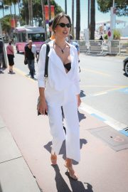 Alessandra Ambrosio in white outfit during 72nd Cannes Film Festival in Cannes 2019/05/14 26