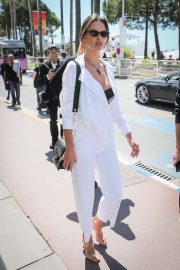 Alessandra Ambrosio in white outfit during 72nd Cannes Film Festival in Cannes 2019/05/14 27