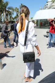 Alessandra Ambrosio in white outfit during 72nd Cannes Film Festival in Cannes 2019/05/14 29