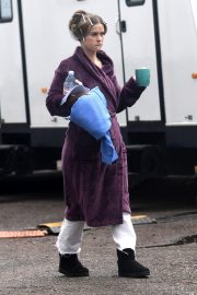 "Alice Eve on The Set for ITV Series ""Belgravia"" in London 2019/05/09 6"