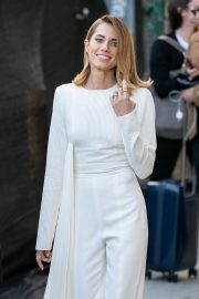 Allison Williams in White Jumpsuit with Long Sleeves at Jimmy Kimmel Live! in Hollywood 2019/05/15 5