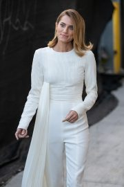 Allison Williams in White Jumpsuit with Long Sleeves at Jimmy Kimmel Live! in Hollywood 2019/05/15 6