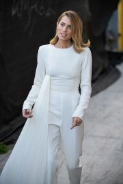 Allison Williams in White Jumpsuit with Long Sleeves at Jimmy Kimmel Live! in Hollywood 2019/05/15 7