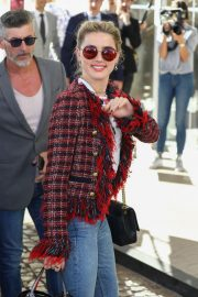 Amber Heard Arrives at Nice Airport of the 72nd Annual Cannes Film Festival 2019/05/13 10