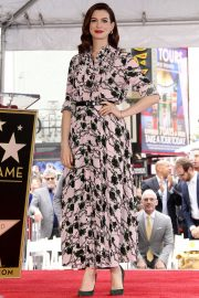 Anne Hathaway at Star Ceremony on The Hollywood Walk Of Fame in Hollywood 2019/05/09 1