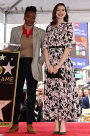 Anne Hathaway at Star Ceremony on The Hollywood Walk Of Fame in Hollywood 2019/05/09 3