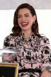 Anne Hathaway at Star Ceremony on The Hollywood Walk Of Fame in Hollywood 2019/05/09 5