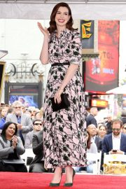 Anne Hathaway at Star Ceremony on The Hollywood Walk Of Fame in Hollywood 2019/05/09 11
