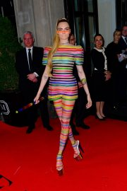 Cara Delevingne Out in Stripes for the 2019 Met Gala in New York 201905/06 2