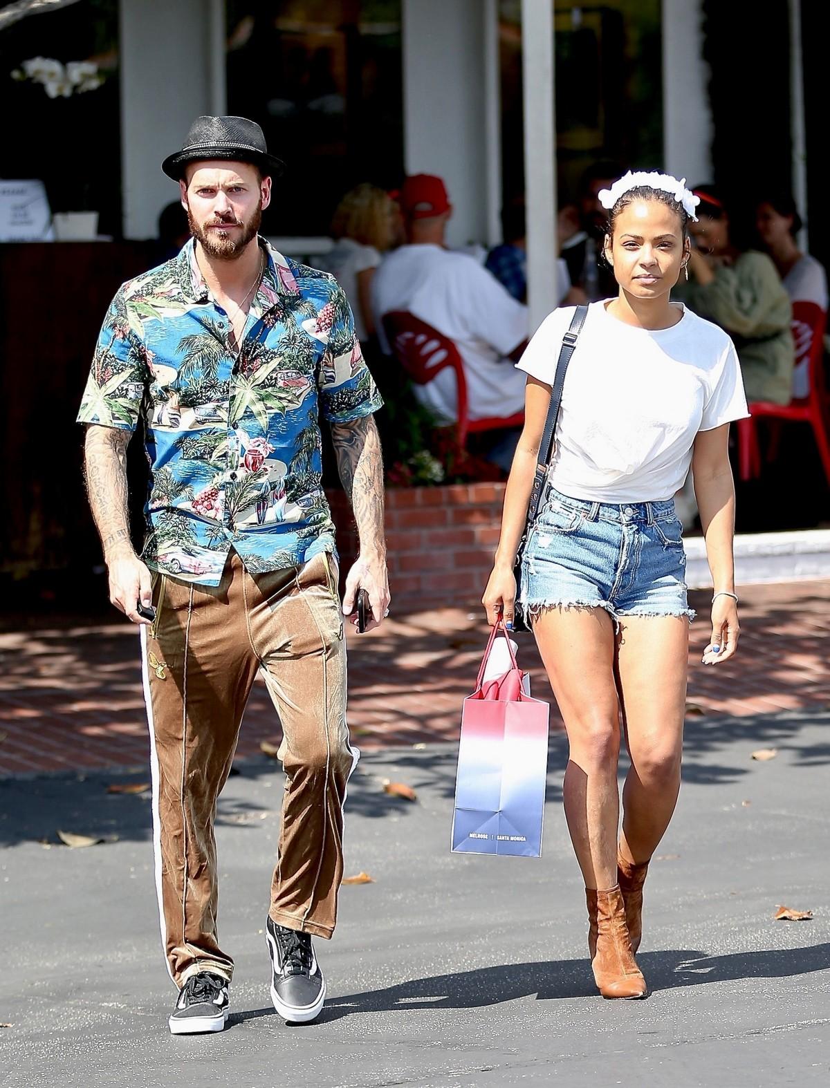Christina Milian with Her Partner M. Pokora Shops at Fred Segal in West Hollywood 2019/05/11 5