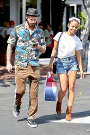 Christina Milian with Her Partner M. Pokora Shops at Fred Segal in West Hollywood 2019/05/11 9