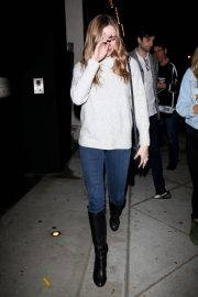 Danielle Panabaker with friends at Craig's Restaurant in West Hollywood 2019/05/10 2