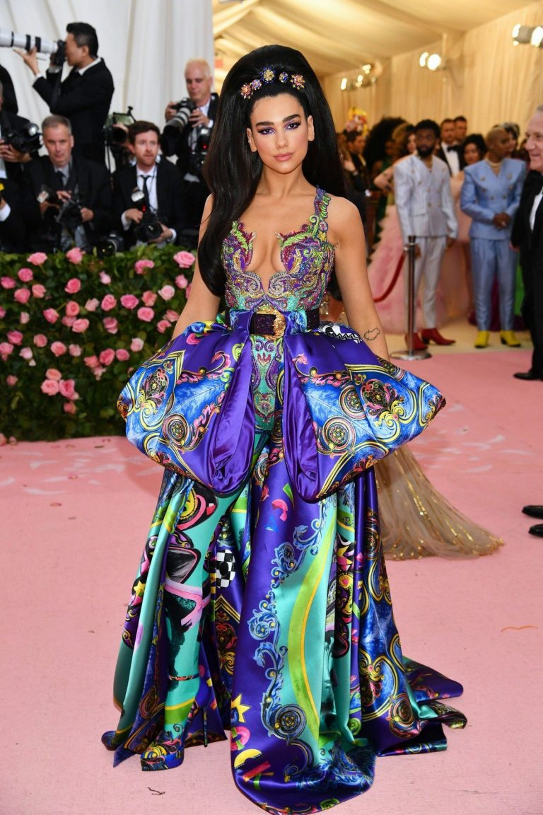 Dua Lipa at The 2019 Met Gala Celebrating Camp: Notes on Fashion in New York 2019/05/06 2