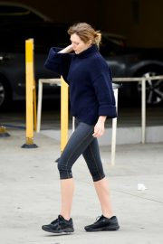 Elizabeth Olsen in Tights After a Workout in Los Angeles 2019/05/10 1