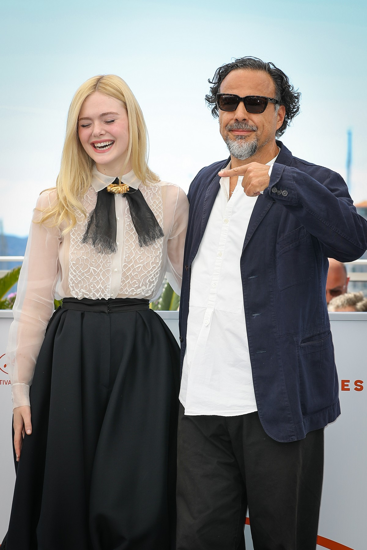 Elle Fanning and Alejandro Gonzalez Inarritu at the 72nd annual Cannes Film Festival 2019/05/14 4