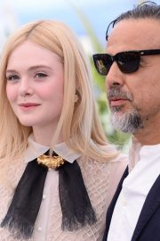 Elle Fanning and Alejandro Gonzalez Inarritu at the 72nd annual Cannes Film Festival 2019/05/14 10