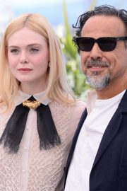Elle Fanning and Alejandro Gonzalez Inarritu at the 72nd annual Cannes Film Festival 2019/05/14 11