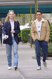 Elle Fanning and Max Minghella Out and About in New York 2019/05/03 2