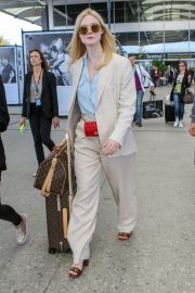 Elle Fanning Arrives at Nice Airport of the 72nd Annual Cannes Film Festival 2019/05/12 7