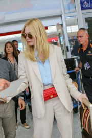 Elle Fanning Arrives at Nice Airport of the 72nd Annual Cannes Film Festival 2019/05/12 9