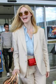Elle Fanning Arrives at Nice Airport of the 72nd Annual Cannes Film Festival 2019/05/12 10