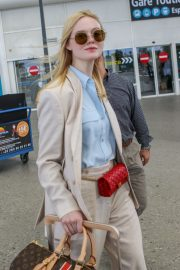 Elle Fanning Arrives at Nice Airport of the 72nd Annual Cannes Film Festival 2019/05/12 11