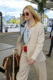 Elle Fanning Arrives at Nice Airport of the 72nd Annual Cannes Film Festival 2019/05/12 14