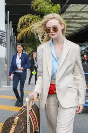 Elle Fanning Arrives at Nice Airport of the 72nd Annual Cannes Film Festival 2019/05/12 16