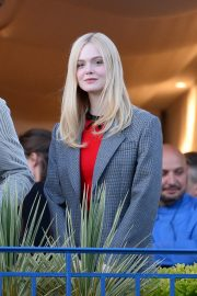Elle Fanning at balcony of the Martinez Hotel in the evening of the Cannes Film Festival in France 2019/05/13 3