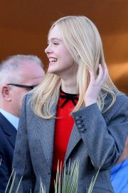 Elle Fanning at balcony of the Martinez Hotel in the evening of the Cannes Film Festival in France 2019/05/13 5