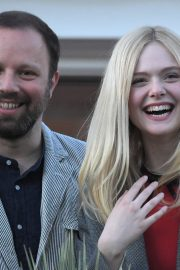 Elle Fanning at balcony of the Martinez Hotel in the evening of the Cannes Film Festival in France 2019/05/13 6