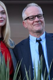 Elle Fanning at balcony of the Martinez Hotel in the evening of the Cannes Film Festival in France 2019/05/13 8