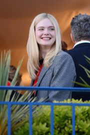 Elle Fanning at balcony of the Martinez Hotel in the evening of the Cannes Film Festival in France 2019/05/13 9