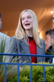 Elle Fanning at balcony of the Martinez Hotel in the evening of the Cannes Film Festival in France 2019/05/13 13