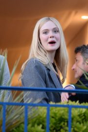 Elle Fanning at balcony of the Martinez Hotel in the evening of the Cannes Film Festival in France 2019/05/13 15