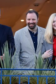 Elle Fanning at balcony of the Martinez Hotel in the evening of the Cannes Film Festival in France 2019/05/13 17