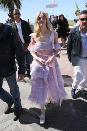 Elle Fanning Leaves The Martinez Hotel During the 72nd annual Cannes Film Festival 2019/05/14 1