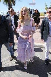 Elle Fanning Leaves The Martinez Hotel During the 72nd annual Cannes Film Festival 2019/05/14 2
