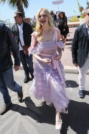 Elle Fanning Leaves The Martinez Hotel During the 72nd annual Cannes Film Festival 2019/05/14 4
