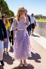 Elle Fanning Leaves The Martinez Hotel During the 72nd annual Cannes Film Festival 2019/05/14 6