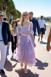 Elle Fanning Leaves The Martinez Hotel During the 72nd annual Cannes Film Festival 2019/05/14 10