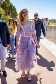 Elle Fanning Leaves The Martinez Hotel During the 72nd annual Cannes Film Festival 2019/05/14 11