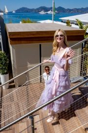 Elle Fanning Leaves The Martinez Hotel During the 72nd annual Cannes Film Festival 2019/05/14 12