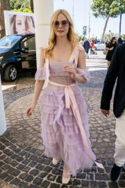 Elle Fanning Leaves The Martinez Hotel During the 72nd annual Cannes Film Festival 2019/05/14 16