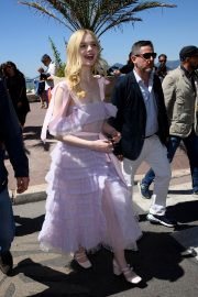 Elle Fanning Leaves The Martinez Hotel During the 72nd annual Cannes Film Festival 2019/05/14 17