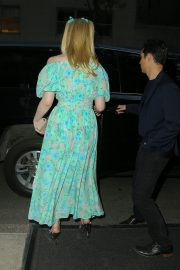 Elle Fanning wearing a floral dress in New York 2019/05/02 3