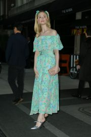 Elle Fanning wearing a floral dress in New York 2019/05/02 7