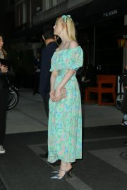 Elle Fanning wearing a floral dress in New York 2019/05/02 8