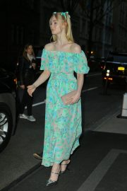 Elle Fanning wearing a floral dress in New York 2019/05/02 9